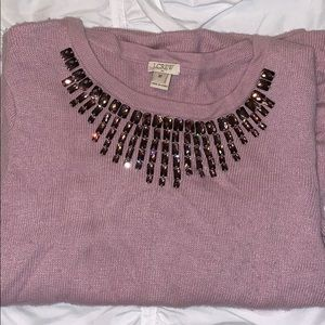 Light Purple embellished neck sweater medium